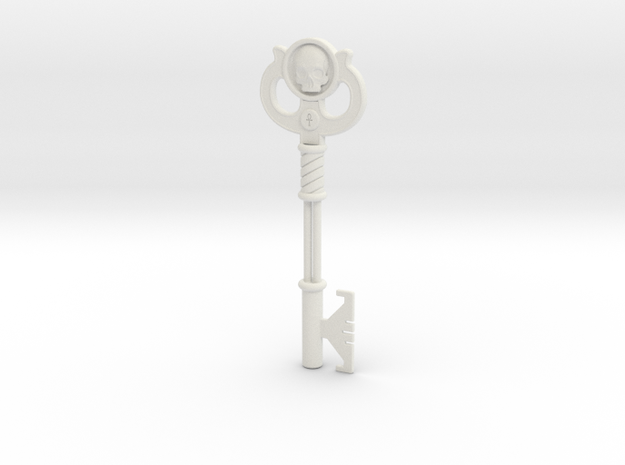 Key  in White Natural Versatile Plastic