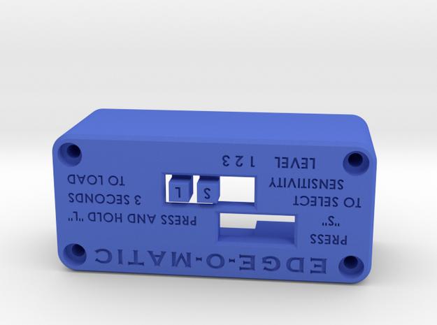 EDGE-O-MATIC web sensor housing in Blue Processed Versatile Plastic