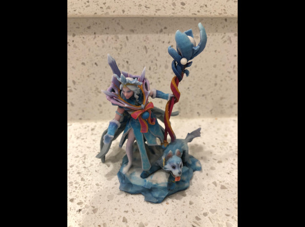 Crystal Maiden Arcana with Icewrack Pup in Natural Full Color Sandstone