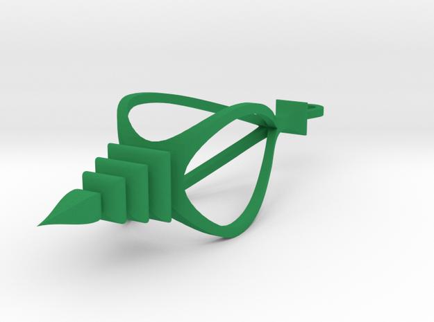 Spire scrollsaw icicle ornament in Green Processed Versatile Plastic: Medium