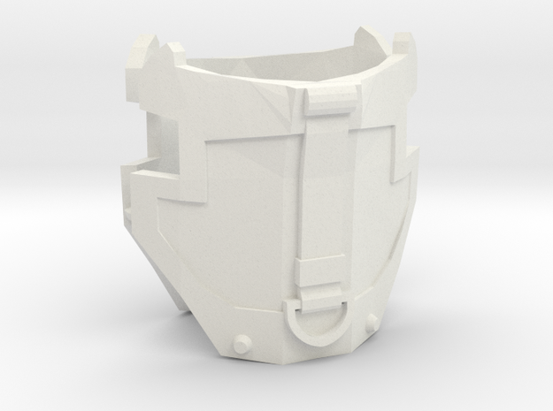 1/6 scale hip armor with strap 1 pair in White Natural Versatile Plastic