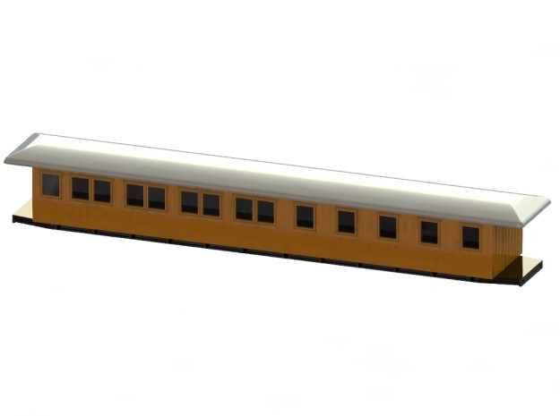 BCo6 - Swedish passenger wagon in Smooth Fine Detail Plastic