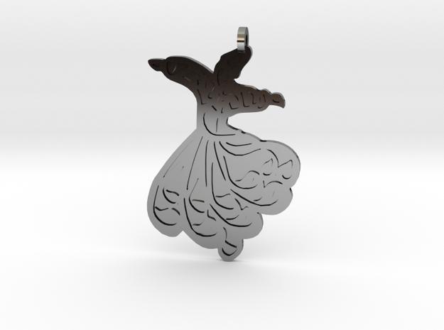 Mevlana Pendant New in Antique Silver