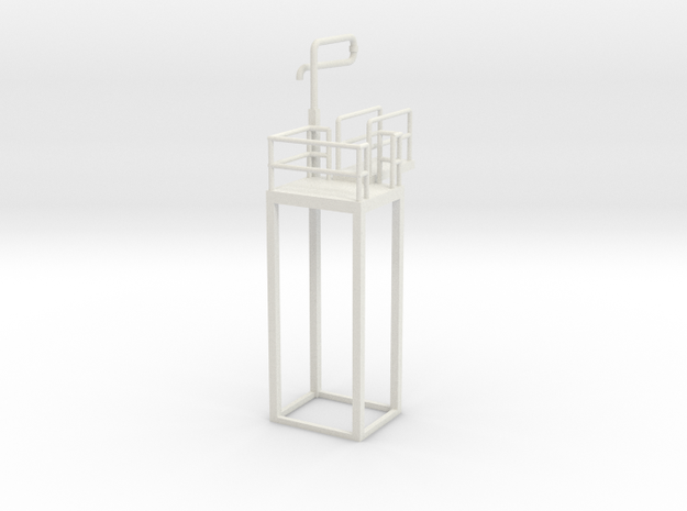 'HO Scale' - Ethanol Fill Station in White Natural Versatile Plastic