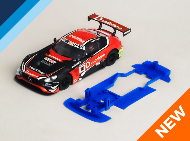 1/32 SCX AMG Mercedes GT3 Chassis for Slot.it pod in White Natural Versatile Plastic