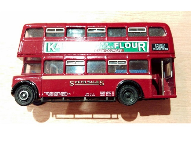 Orion Double Decker Bus Sliding Window Vents OO/HO in Smooth Fine Detail Plastic
