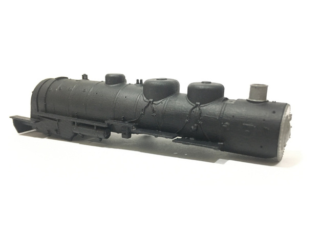 AT&SF 4-8-2 Boiler Shell in Smooth Fine Detail Plastic