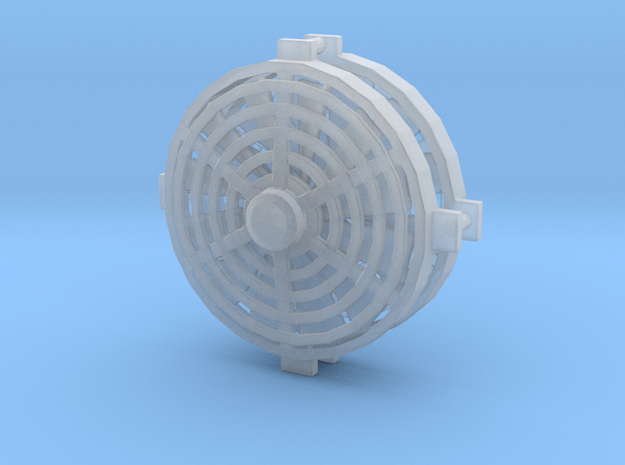 1/24 1/25 cooling fan in Smooth Fine Detail Plastic