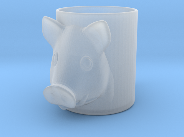 Pork Beer Glass in Smooth Fine Detail Plastic
