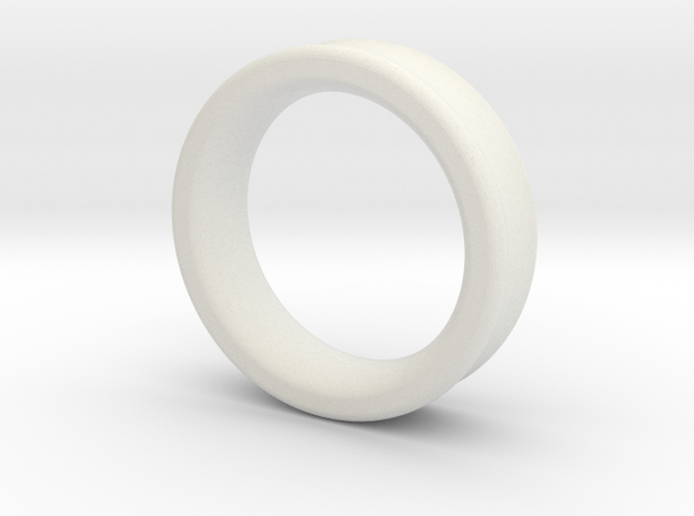 "Ear Gauge, 1 3/4""-2"" - Tunnel in White Natural Versatile Plastic: Medium"