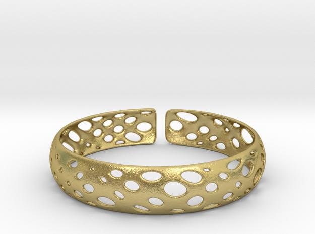 Pebble Bracelet in Natural Brass