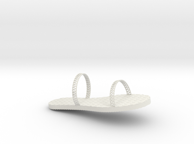 FlipFlop Design1 in White Strong & Flexible