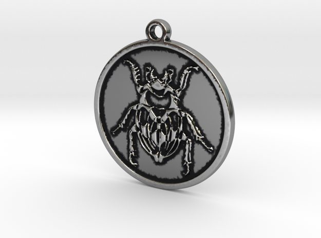 Beetle in Antique Silver