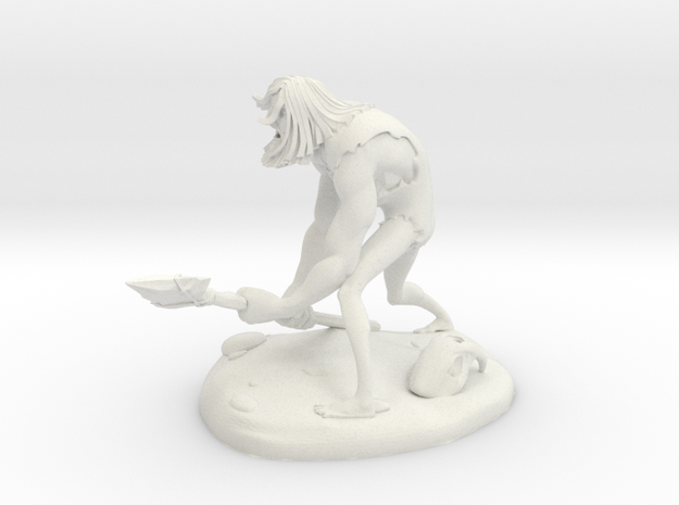 TheCaveman (Small) in White Natural Versatile Plastic