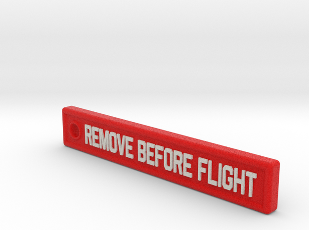 3 Inches KeyChain Remove Before Flight Sign