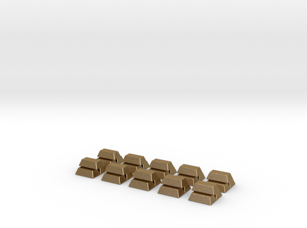 Gold Bars For Stone Age, Set of 10 3d printed