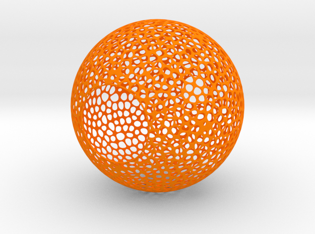 Lampshade (Sphere Vero 3) in Orange Strong & Flexible Polished