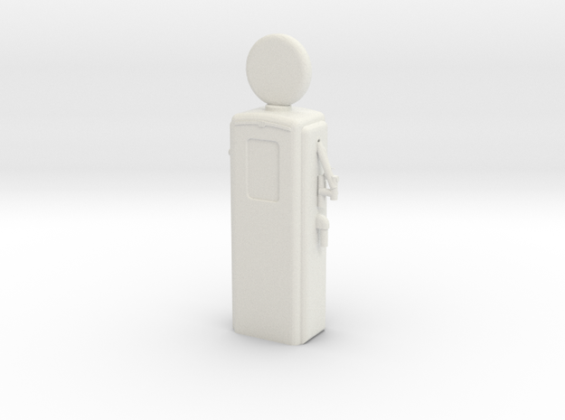S Scale Old Gas Pump in White Natural Versatile Plastic