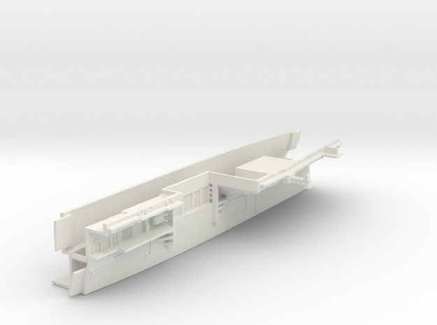 1/600 CVS-11 USS Intrepid Midships (Waterline) in White Natural Versatile Plastic