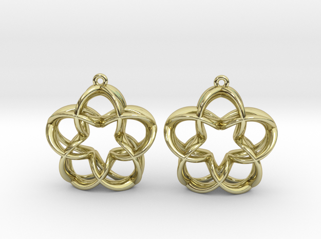 Magic5 Ear Pendants in 18k Gold Plated Brass