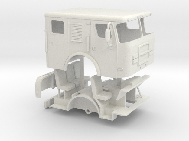 1/64 E-One cyclone Flat Roof w/ rollup doors in White Natural Versatile Plastic