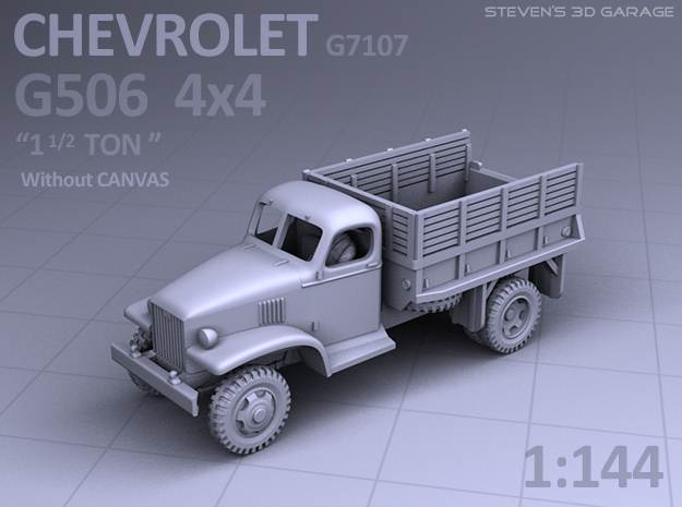 1/144 - Chevrolet G506 4x4 Truck (no canvas) in Smooth Fine Detail Plastic