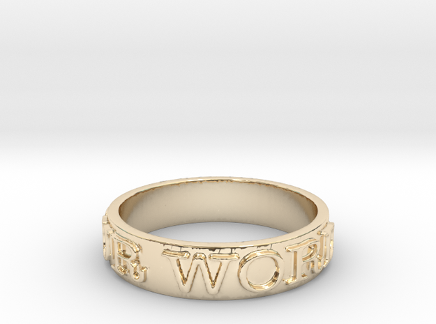 Be Your Word (Size 7) in 14K Yellow Gold