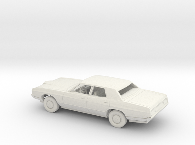 1/43 1971 Ford LTD Sedan Kit in White Natural Versatile Plastic