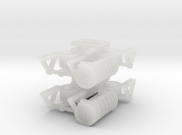 ZB (H0e) - Bremsaggregate für 4 4ax-Wagen in Smooth Fine Detail Plastic