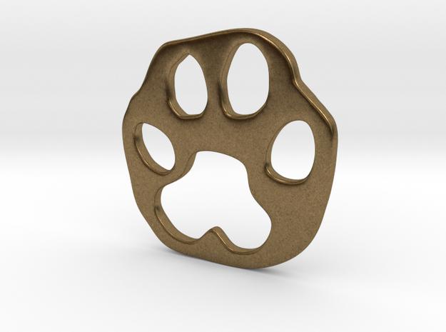 Bobcat paw print in Raw Bronze