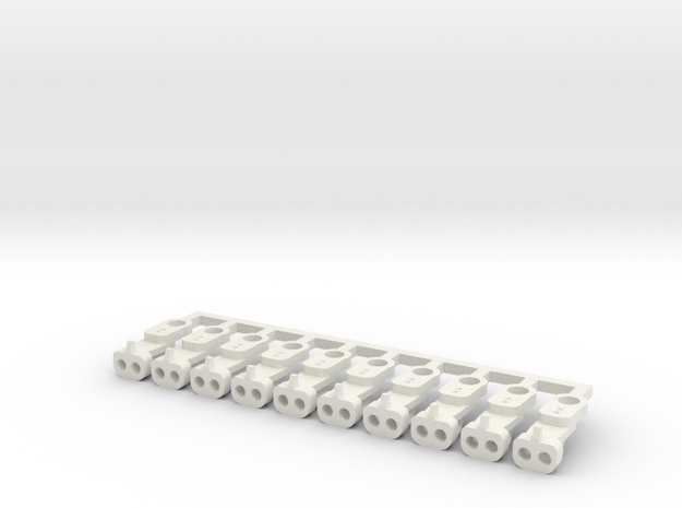Magno-Electro Couplings for Tillig (Medium) x10 in White Natural Versatile Plastic