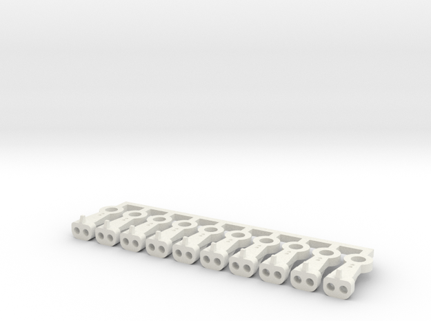 Magno-Electro Couplings for Liliput (Medium) x10 in White Natural Versatile Plastic