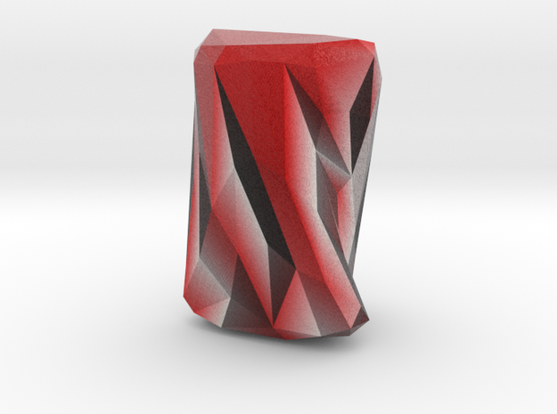 Small Geometric Vase in Full Color Sandstone