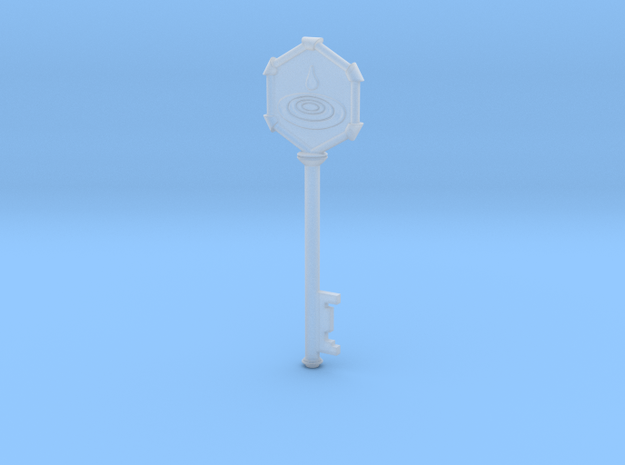 Resident Evil 0 Water Key in Smooth Fine Detail Plastic