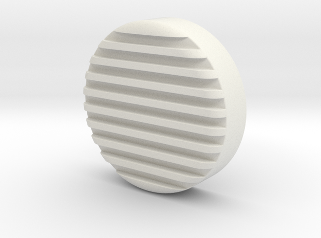 Evil Heat shield in White Natural Versatile Plastic