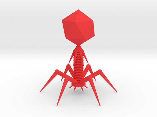 Bacteriophage in Red Processed Versatile Plastic
