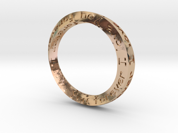 Forever Love 18mm ring 3d printed