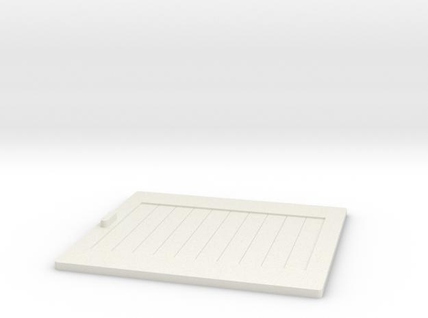 Dublo Goods Shed Door 20903 in White Natural Versatile Plastic