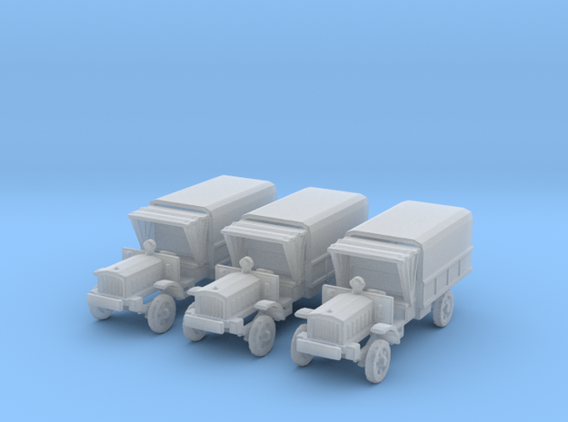 1/200 WW1 light trucks (3) in Smooth Fine Detail Plastic