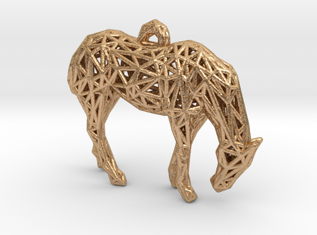 Horse wire Pendant in Natural Bronze