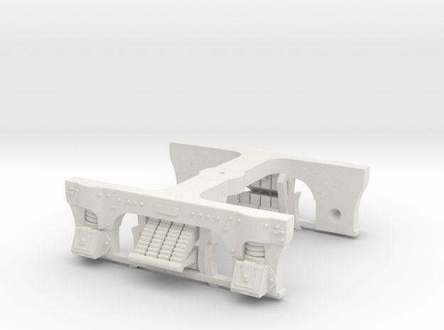 LIRR T-54 Truck (One Pack HO) in White Natural Versatile Plastic