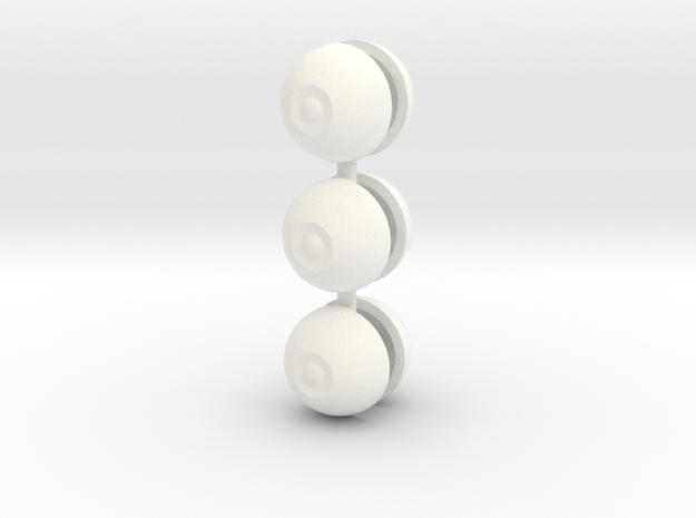 BJD DIY eyes with smaller iris 14mm 3 sets UPDATE! in White Processed Versatile Plastic