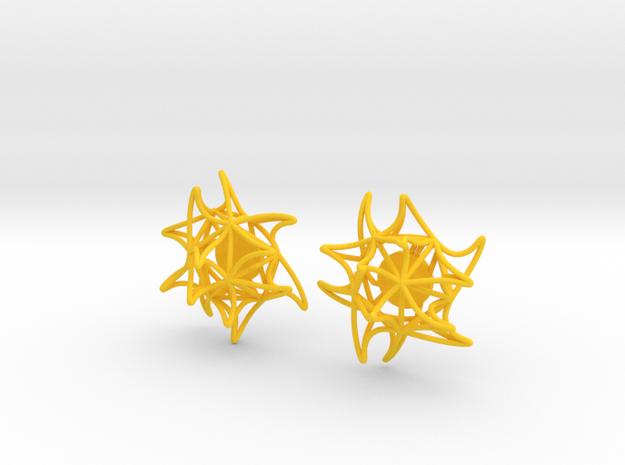 Aster Earrings (Studs) 3d printed