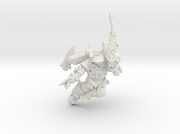 Astroknight Rocketman Flying Rifleman in White Natural Versatile Plastic