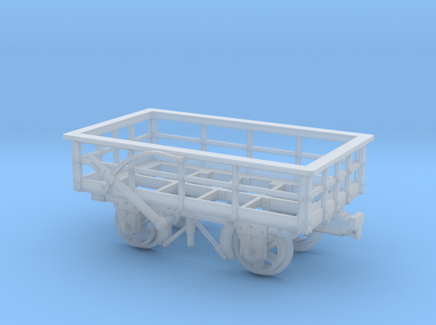 FR 3T Slate Wagon Braked 5.5mm Scale in Smooth Fine Detail Plastic