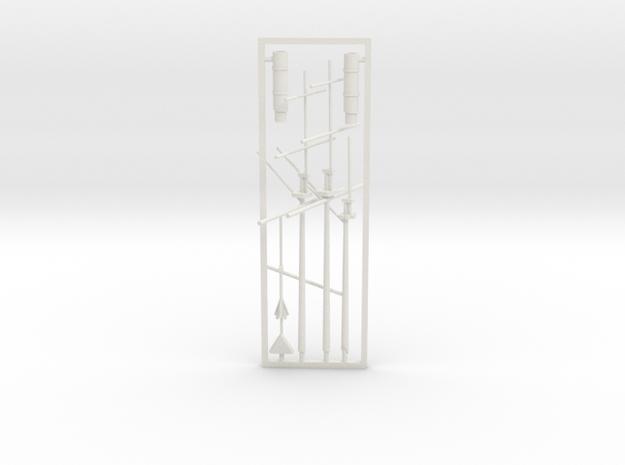 1/350 CSS Florida Masts & Funnels in White Natural Versatile Plastic