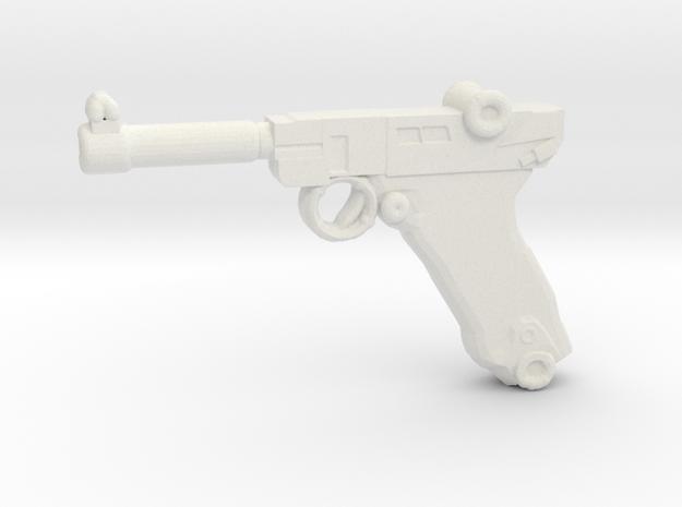 Luger P08 in White Natural Versatile Plastic