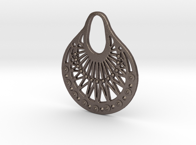 Ornamental Pendant / Earring 3d printed