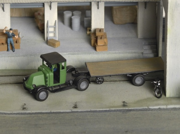 Renault NA 1925 semi trailer Ho - 1:87 in Smooth Fine Detail Plastic