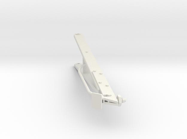 Higgins Radar Mast S0 16th scale A Frame in White Natural Versatile Plastic